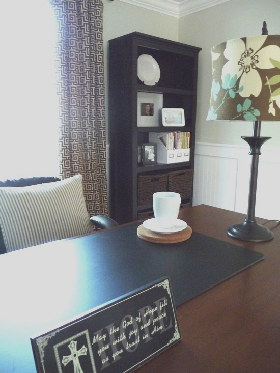 We changed our dining room into a home office for Dining room vs office