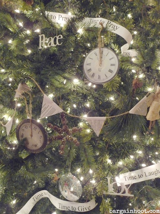 vintage time theme christmas tree