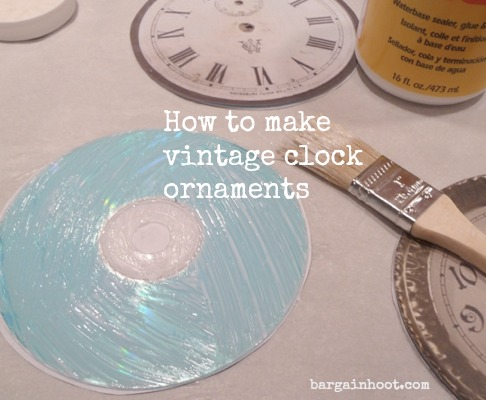How to make clock face ornaments
