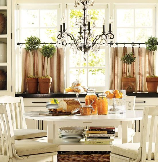 Attractive Cafe Curtains Dining Room Best. Food Friends Wall Art Pottery Barn ...