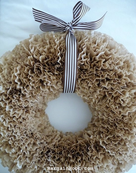 Coffee Filter wreathtutorial