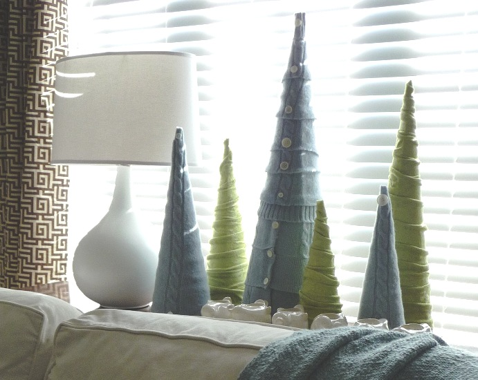 DIY Sweater Cone Trees