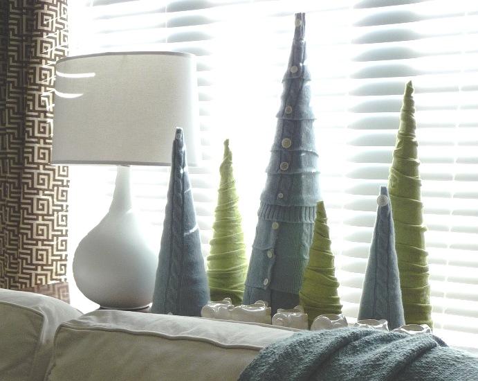 DIY Sweater Cone Trees