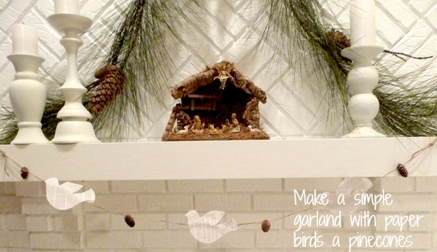 easy christmas mantle
