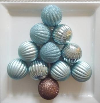 Christmas bulb tree