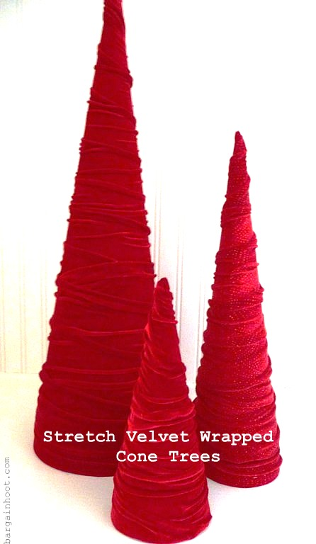 velvet cone shaped tree