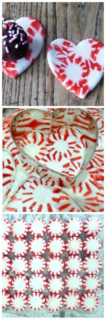 peppermint heart candy cutout