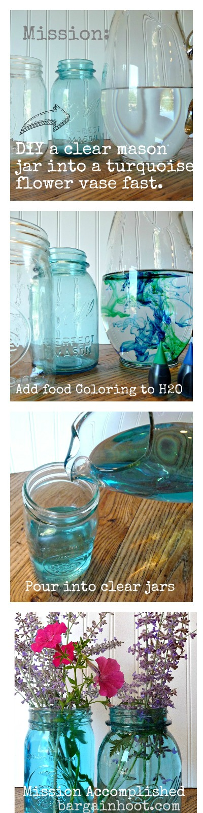 DIY Turquoise mason jar fast