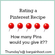 How to rate a pinterest recipe