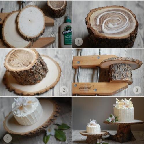 DIY wooden cakestand