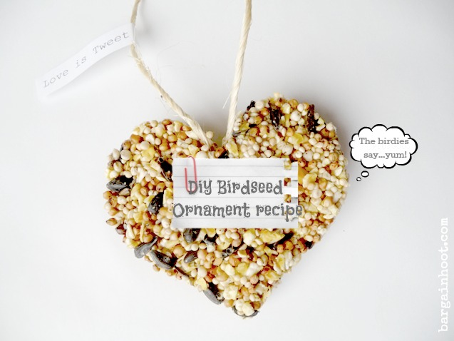 birdseed ornament recipe