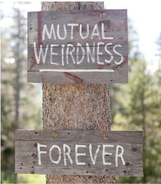 creative wedding sign