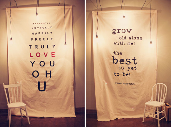 creative wedding banner