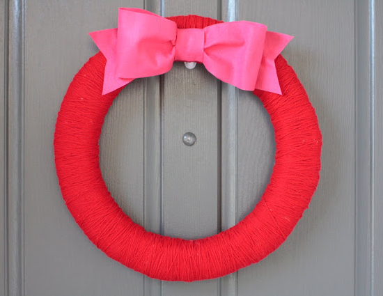 Valentine's day wreath Kate Spade