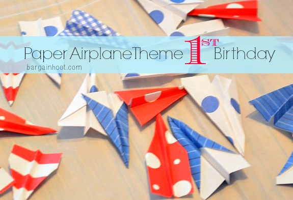 Paper Airplane theme 1st birthday