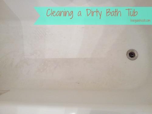 how to get a dirty bathtub clean