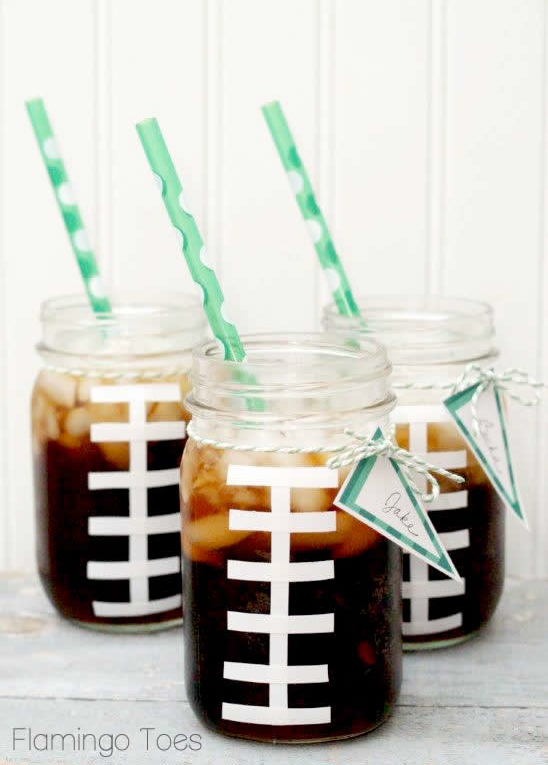 Football themed party ideas  from Flamingo Toes