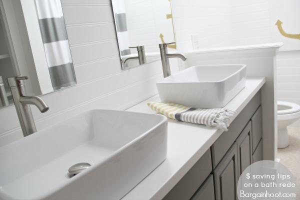 DIY bathroom gray