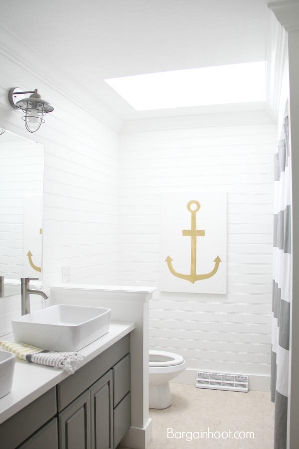 DIY bathroom money saving updates Gray