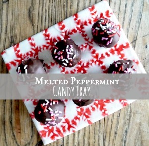 peppermint candy tray small