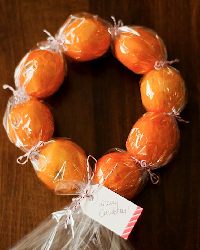 diy clementine wreath